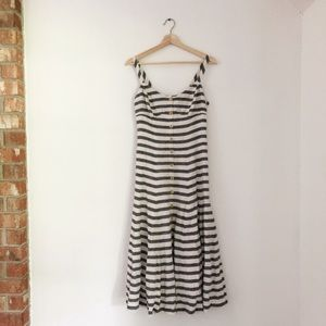 Maeve | Linen Striped Maxi Dress